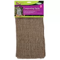 Jutesäck för kompostering av trädgårdsavfall