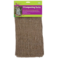 Kompostsäck i jute, 3-pack, Jutesäck för kompostering av trädgårdsavfall