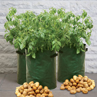 Potatisodling för balkong och terrass, 3-pack-Potatissäck för odling på balkong och terrass