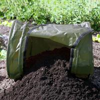 Kompostbehållare - rullkompost RollMix composter, Grön, Behållare för trädgårdsavfall - rullkompost