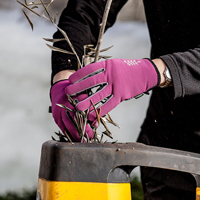 Handske Garden short, Fuchsia/grå - strl 8,