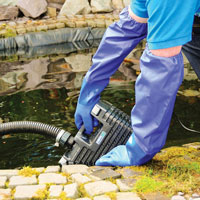 Dammhandskar för användning i damm
