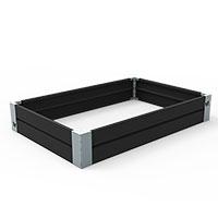 Odlingslåda i plåt, svart 80 x 120 cm-Odlingslåda i plåt, svart 80 x 120 cm - hållbar design