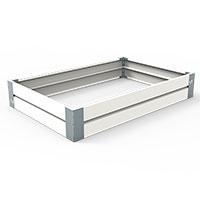 Odlingslåda i plåt, vit 80 x 120 cm-Odlingslåda i plåt, vit 80 x 120 cm - hållbar design