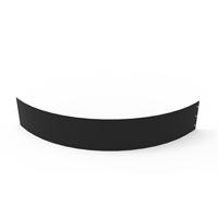 Planteringskant kvartsbåge svart, 180x1150 mm-Planteringskant i svart 180 mm kvartsbåge 1150 mm