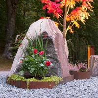 Planteringskant polygoncirkel corten, 120x500 mm, Växtodling med raka trädgårdskanter