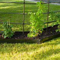 Planteringskant cirkel svart, 180x900 mm, Blomplantering med raka planteringskanter