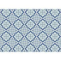 Utomhusmatta med marockanskt blått mönster