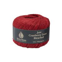 Jutesnöre, Cranberry 150 m-Jutesnöre för uppbindning, färg cranberry , 150 meter