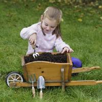 Plantergaffel för barn i rostfritt stål