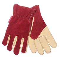 Premiumhandskar i mocka/läder, dam-Trädgårdshandskar i mocka och läder damstorlek