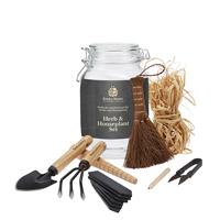 Presentförpackning Herb-Houseplant kit Kent&Stowe-Presentförpackning med små trädgårdsverktyg för inomhusbruk