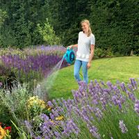 Trädgårdsslang med vinda 10 meter med munstycke