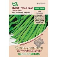 Fransk dvärgböna, Tendergreen, Fröpåse till Fransk dvärgböna, Tendergreen