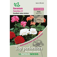 Pelargonmix, Paintbox F2, Fröpåse till Geranium, Paintbox F2