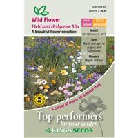 Vildblommor, Wild Flower Field & Hedge-row Mix, Fröpåse till Wild Flower, Field & Hedge-Row Mix