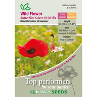 Wild Flower Mix, Butterflies & Bees, Fröpåse till Wild Flower Mix, Butterflies & Bees 80/20