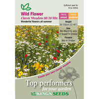 Vildblommor, Wild Flower Mix, Classic Meadow, Fröpåse till Wild Flower Mix, Classic Meadow 80/20