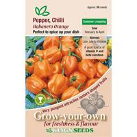 Chili, Habanero Orange, Fröpåse till chili, Habanero Orange
