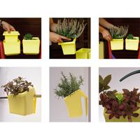 Klara Kipo Plant Pot, yellow, Klara Kipo kryddkruka med bevattningsdel