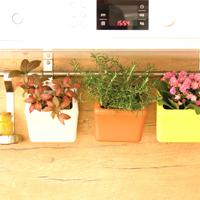 Klara Kipo Plant Pot, Turquoise, Klara Kipo - självvattnade kruka med upphängning