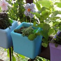 Klara Kipo Plant Pot, Turquoise-Klra Kipo planteringskruka med bevattning, turkos
