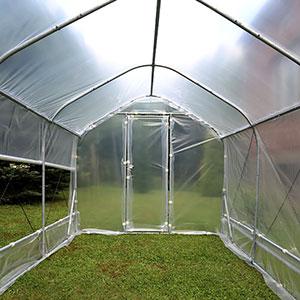 Bågväxthus Pro med sidoventilation