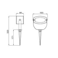 Adara - LED Garden Plug & Play, Adara LED Garden Plug & Play mått