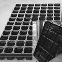 Pluggbrätte 77 celler + bevattningsbricka-Pluggbrätte 77 celler och underbevattningsbricka.