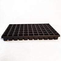 Pluggbrätte med 77 celler som är 40x40x53 stora.