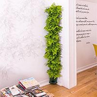 Minigarden Corner Column med gröna växter