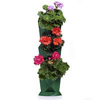 Minigarden Corner vertikalodling odling av pelargoner på höjden