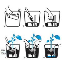 Långtidsbevattning Mona Tank 25 utan bräddavlopp, Skiss, långtidsbevattning Mona Plantsava