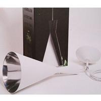 Växtarmatur, vit med reflektor #-Växtarmatur, vit med reflektor