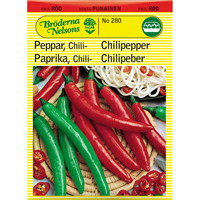 Chilipeppar, Cayenne Long Slim, Frö till chilipeppar,