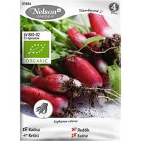 Rädisa Flamboyant 2, Organic-Ekologiskt frö till avlång rödisa, Flamboyant 2