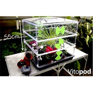 Miniväxthus Vitopod med plantor, tredubbelhöjd