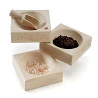 Q Bowl - kryddskål med skopa-Kryddskål med skopa i FSC-odlat trä