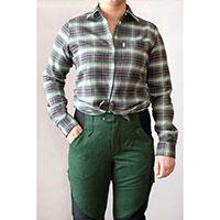 Knuten grönrutig skjorta
