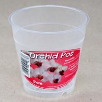 Orkidékruka - Orchid Pot 9 cm-Genomskinlig orkidekruka för orkideer