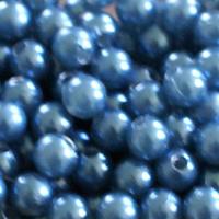 Pärlor, duvblå, 6mm-