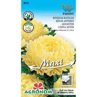 AsterPaeony, yellow (maxi)-Frö till Aster -Paeony, yellow (maxi)