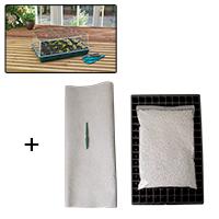 Specialpaket för frösådd 2, specialpaket för frösådd med brätte