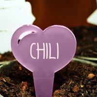 Blomskylt Hjärta, Lavendel-Växtetikett i forma av ett hjärta