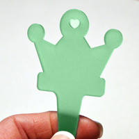 Blomskylt Krona, Grön, Kronformad växtetikett grön