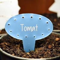 Blomskylt Oval, Blå-Växtetikett oval