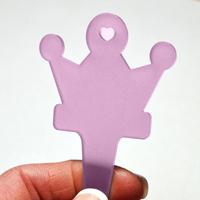 Blomskylt Krona, Lavendel, Kronformad växtskylt, färg lavendel