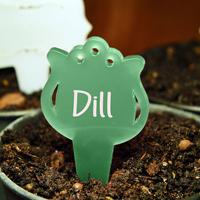 Blomskylt Tulpan, Grön-Växtetikett i form av en tulpan