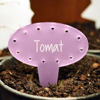 Blomskylt Oval, Lavendel-Växtetikett oval
