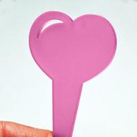 Blomskylt Hjärta, Rosa, Blomskylt hjärtformad, rosa